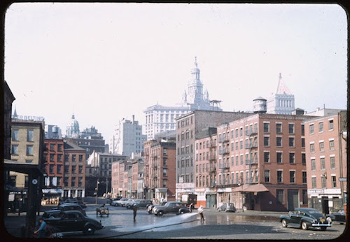 looking-up-fulton-st-from-south-st-1941