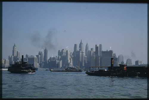 lower-manhattan-from-jersey-city-ferry-boat-1941