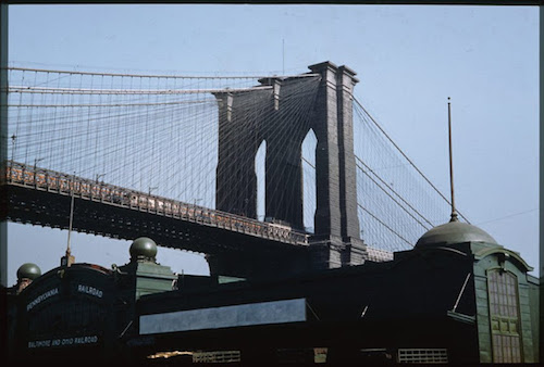 tower-of-brooklyn-bridge-from-south-st-manhattan-1941