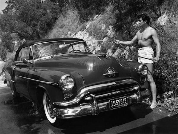 Rock Hudson car 1952